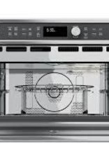 GE GE Cafe 1.7 Built-In Convection Microwave Stainless
