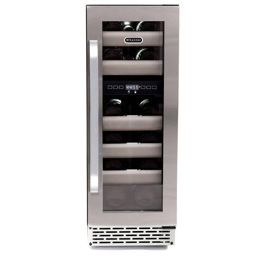 "Whynter Whynter 12"" 17 Bottle Dual Zone Wine Cooler Stainless"