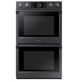 """Samsung Samsung 30"""" Convection Double Wall Oven Black Stainless"""