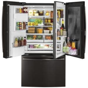 GE GE 27.8 French Door Refrigerator Black Stainless