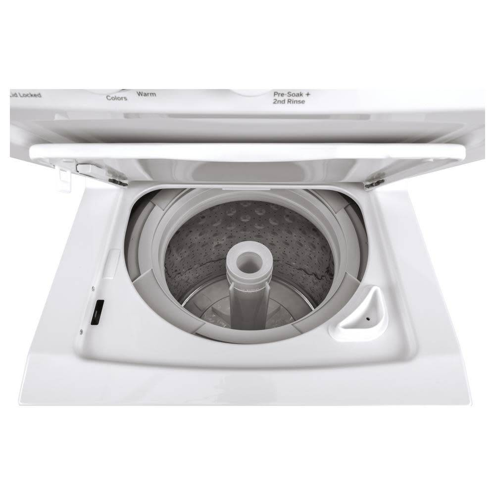 "GE GE 24"" 2.3 Stacked Washer Gas Dryer White"