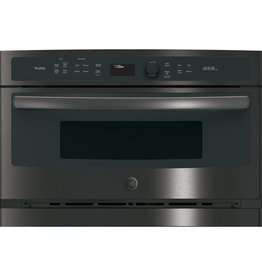 """GE GE 27"""" Convection Wall Oven Black Stainless"""