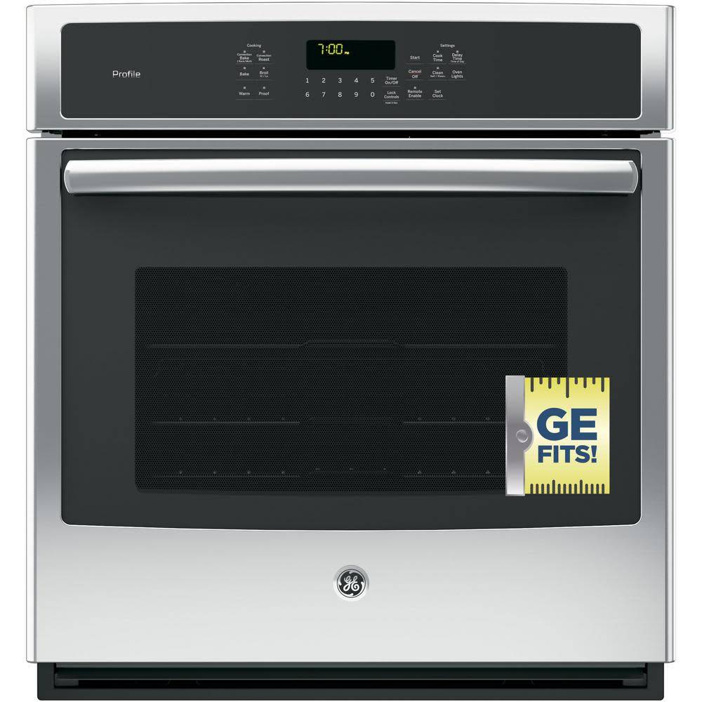 """GE GE Profile 27"""" Convection Wall Oven Stainless"""