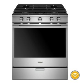 Whirlpool Slide-In Convection Gas Range Stainless
