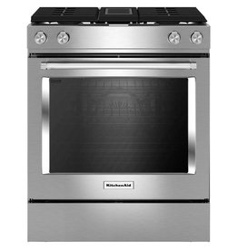KitchenAid Kitchenaid Slide-In Downdraft Convection Dual Fuel Range Stainless