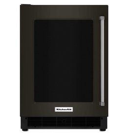 "KitchenAid Kitchenaid 24"" Built-In Mini Refrigerator Black Stainless"