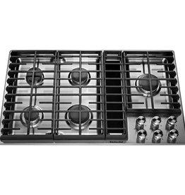 "KitchenAid Kitchenaid 36"" Downdraft Gas Cooktop Stainless"
