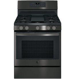 GE GE Freestanding Convection Gas Range Black Stainless