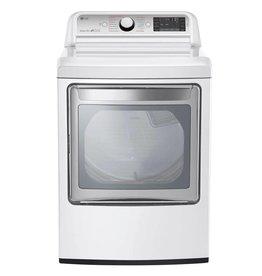 LG LG 7.3 Steam Gas Dryer White