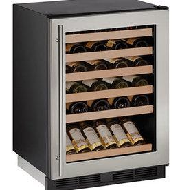 """U-Line U-Line 24"""" 48 Bottle Built-In Wine Cooler Stainless"""