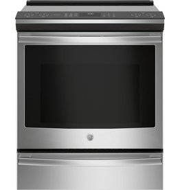 GE GE Profile Slide-In Convection Electric Range Stainless