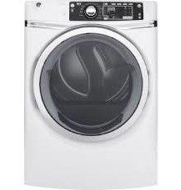 GE GE 8.3 Steam Gas Dryer White