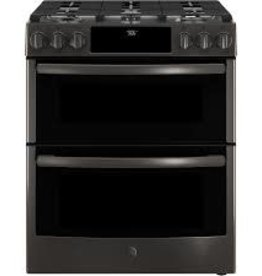 GE GE Profile Slide-In Convection Gas Range Black Stainless