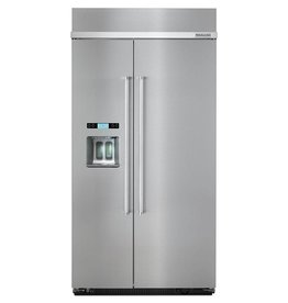 "KitchenAid Kitchenaid 42"" 25.2 Built-In SxS Refrigerator Stainless"