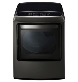 LG LG 7.3 Steam Gas Dryer Black Stainless