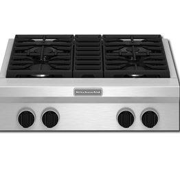 """KitchenAid Kitchenaid 30"""" Gas Rangetop Stainless"""