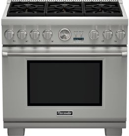 "Thermador Thermador 36"" Slide-In Convection LP Gas Range Stainless"
