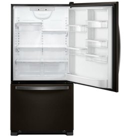 "Whirlpool Whirlpool 33"" 22.1 Bottom Freezer Refrigerator Black Stainless"