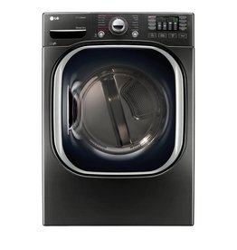 LG LG 7.4 Steam Electric Dryer Black Stainless