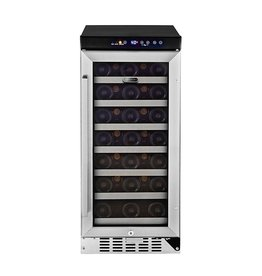 "Whynter Whynter 15"" 33-Bottle Built-In Wine Cooler Stainless"