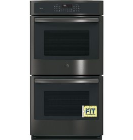 "GE GE Profile 27"" Convection Double Wall Oven Black Stainless"