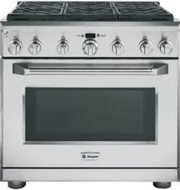 "GE GE Monogram 36"" Slide-In Convection Dual Fuel Range Stainless"