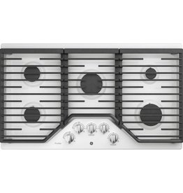 "GE GE Profile 36"" Gas Cooktop White"
