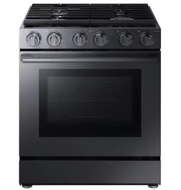 Samsung Samsung Chef Slide-In Convection Gas Range Black Stainless