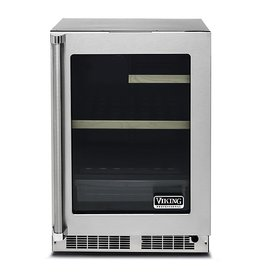 "Viking Viking 24"" Built-In Mini Refrigerator Stainless"