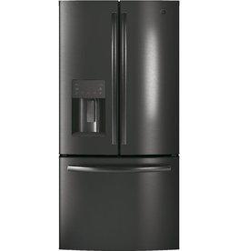 GE GE 17.5ft. French Door Refrigerator Black Stainless Steel
