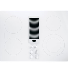 """GE GE Profile 30"""" Downdraft Electric Cooktop White"""