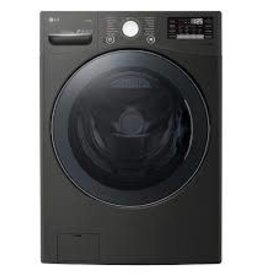 LG LG 4.5 Steam Front Load Washer Black Steel