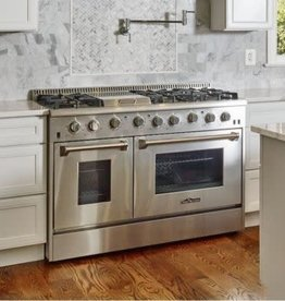 "Thor Thor 48"" Slide-In Convection Gas Range Stainless"