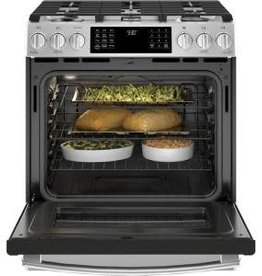 GE GE Profile 5.6 cu. ft. Slide-In Dual Fuel Range Stainless SteeL