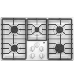 """GE GE 36"""" Gas Cooktop White"""