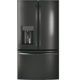 GE GE 22.2 Counter Depth French Door Refrigerator Black Stainless