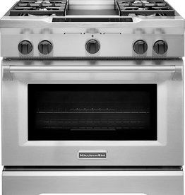 "KitchenAid Kitchenaid 36"" Slide-In Convection Dual Fuel Range Stainless"
