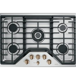 """GE CAFE GE Cafe 30"""" Gas Cooktop Stainless"""