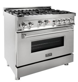 "Z-Line Z-Line 36"" Slide-In Convection Gas Range Stainless"