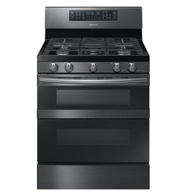 Samsung Samsung Freestanding Flex Convection Gas Range Black Stainless