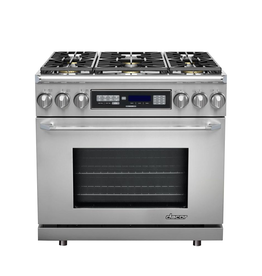 "Dacor Dacor 36"" Slide-In Convection Dual Fuel Range Stainless"