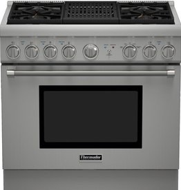 "Thermador Thermador 36"" Slide-In LP Gas Range Stainless"