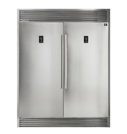 """Forno Forno 60"""" 27.6 Built-In SxS Refrigerator Stainless"""