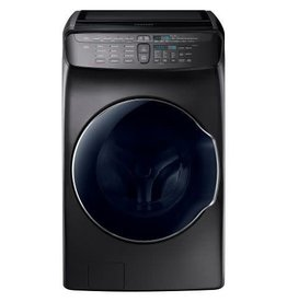 Samsung Samsung 5.5 FlexWash Steam Front Load Washer Black Stainless