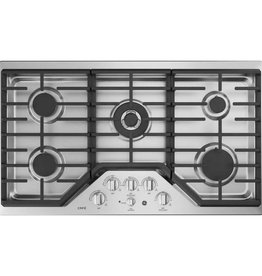 """GE GE Cafe 36"""" Gas Cooktop Stainless"""