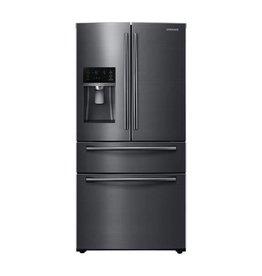"Samsung Samsung 33"" 24.7 Drawer French Door Refrigerator Black Stainless"