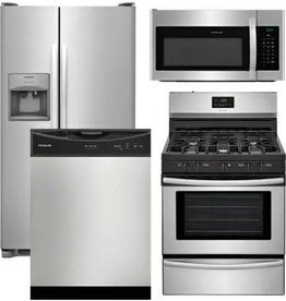 Frigidaire 4 Piece Frigidaire Kitchen Suite Stainless