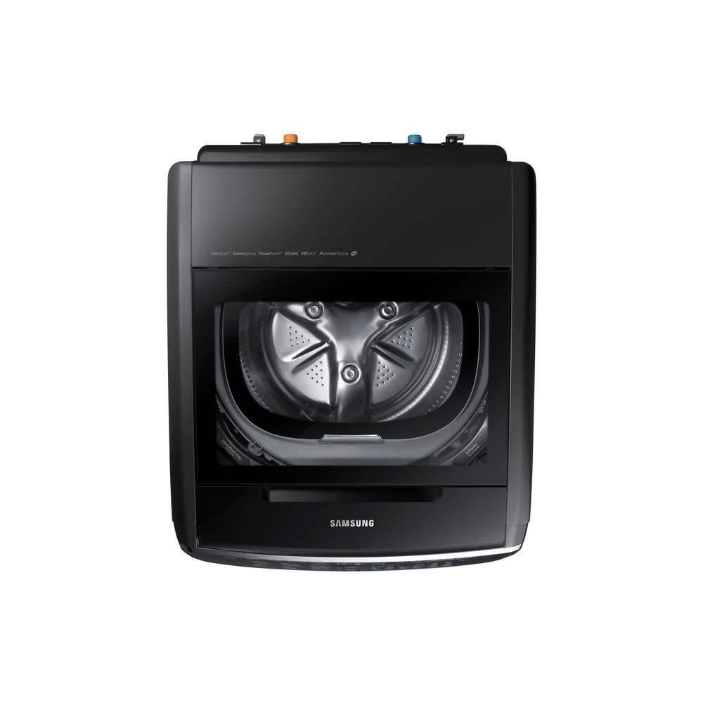 Samsung Samsung 5.5 FlexWash Steam Front Load Washer Black Stainless