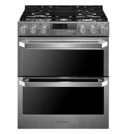 LG LG Signature Slide-In Convection Dual Fuel Range Stainless