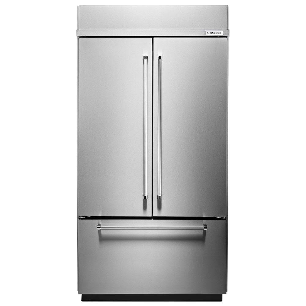 "KitchenAid Kitchenaid 42"" 24.2 Built-In French Door Refrigerator Stainless"